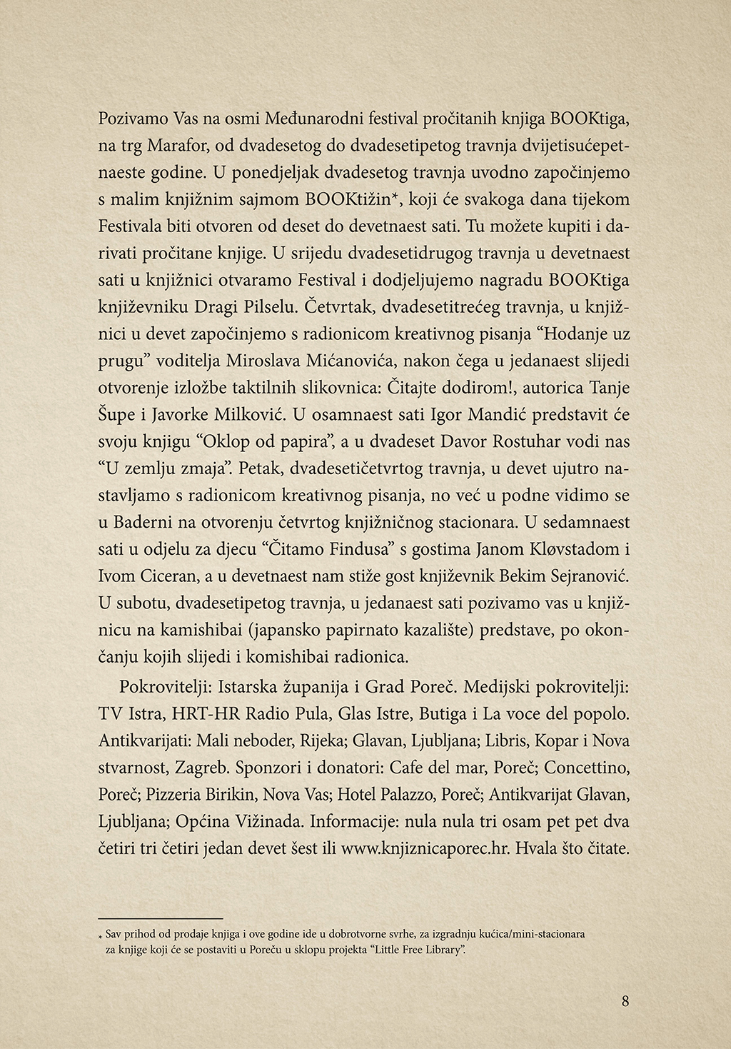 Booktiga, Čitanje, Plakat, Studio Sonda, Sonda, Hrvatski dizajn, Dizajn