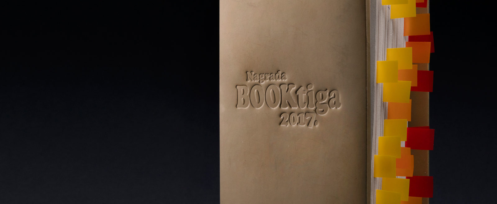Design of the Booktiga award for the most read author