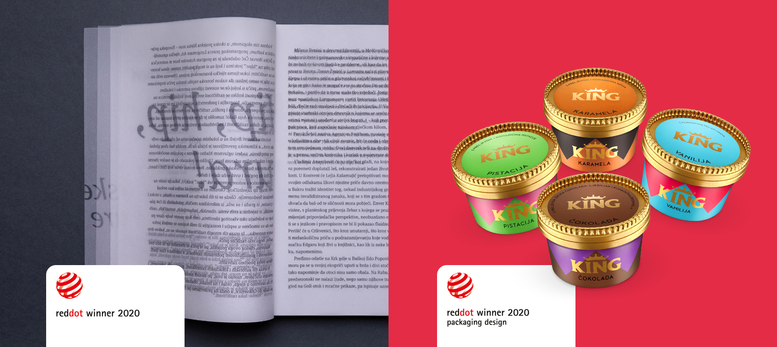 2 new Red Dot awards: for King in a cup and Authors' Boras